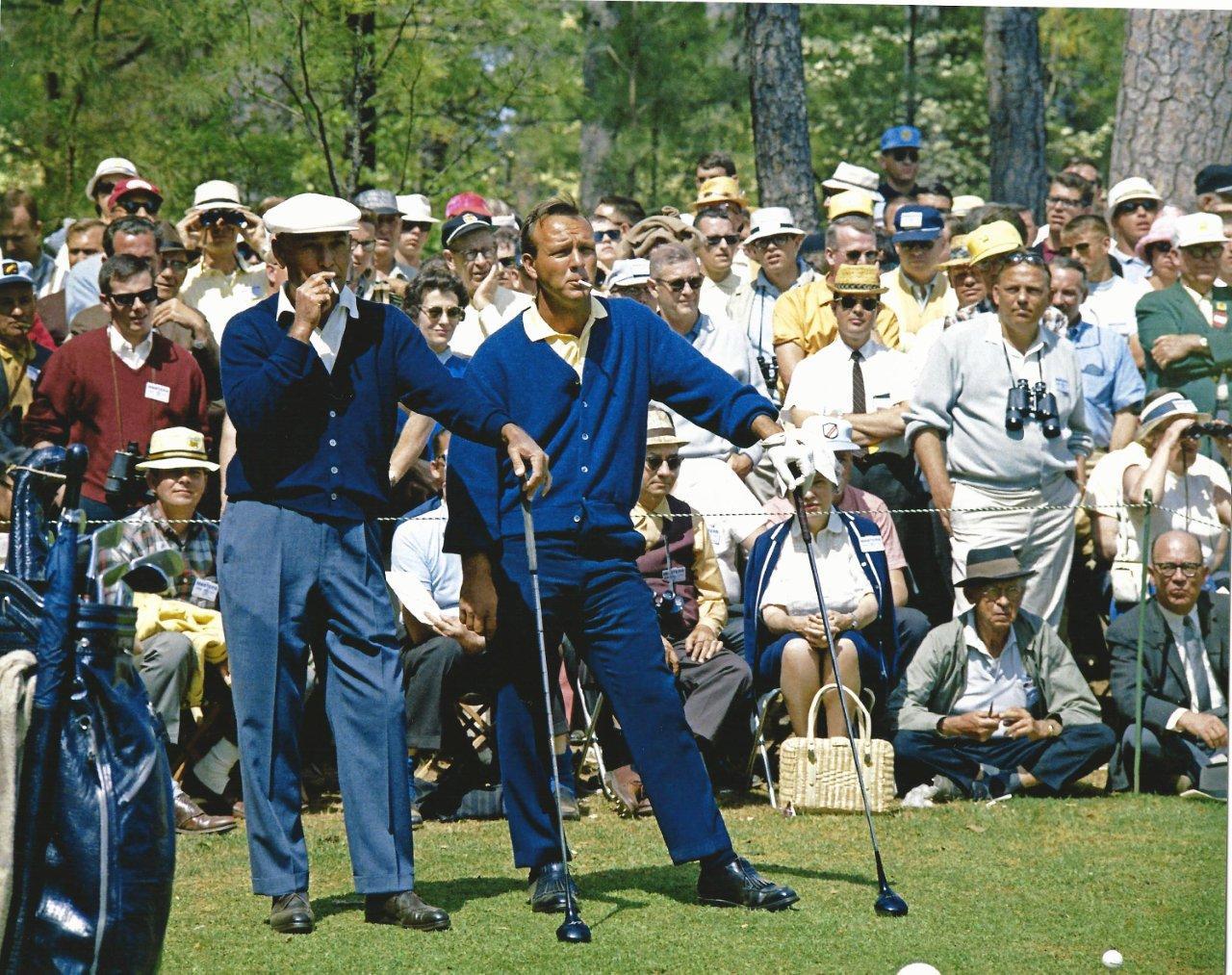 Golf Arnold Palmer And Ben Hogan Smoking Photo Picture