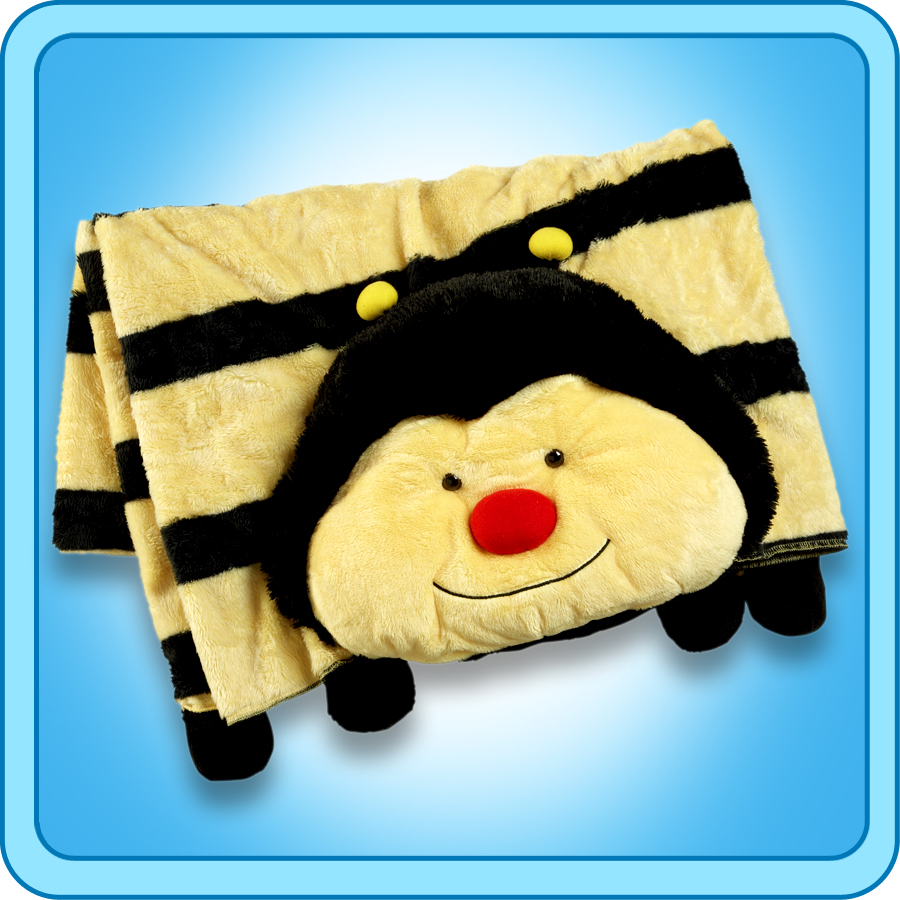 Authentic Pillow Pets Bumble Bee Blanket Plush Toy Gift