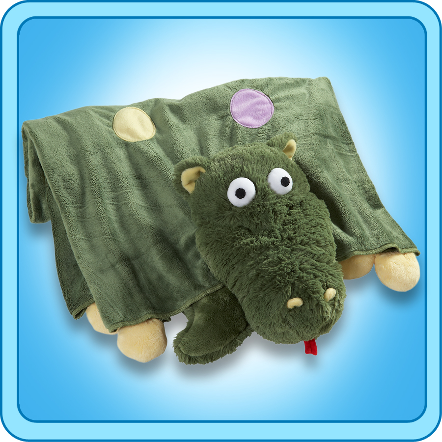 Animal Pillow Blanket : Authentic Pillow Pet Dizzy Dragon Blanket Plush Toy Gift eBay
