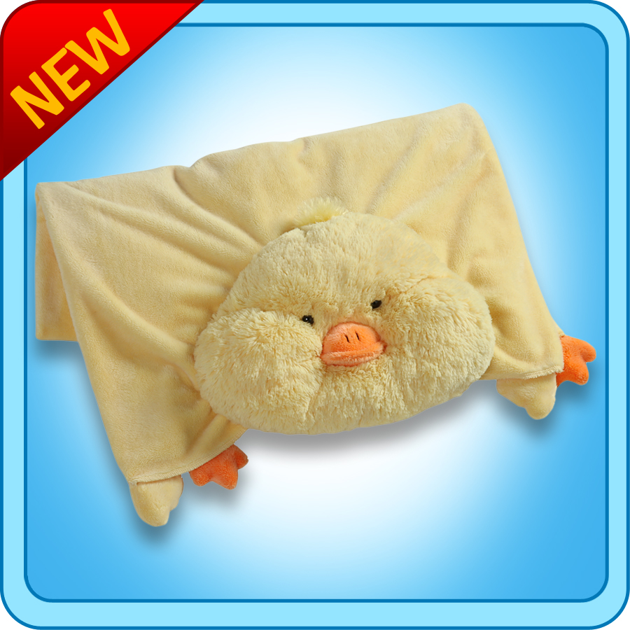 Animal Pillow Blanket : Authentic Pillow Pet Puffy Duck Blanket Plush Toy Gift eBay