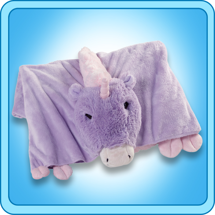 Plush Animal Pillow Blanket : Authentic Pillow Pet Magical Unicorn Blanket Plush Toy Gift eBay