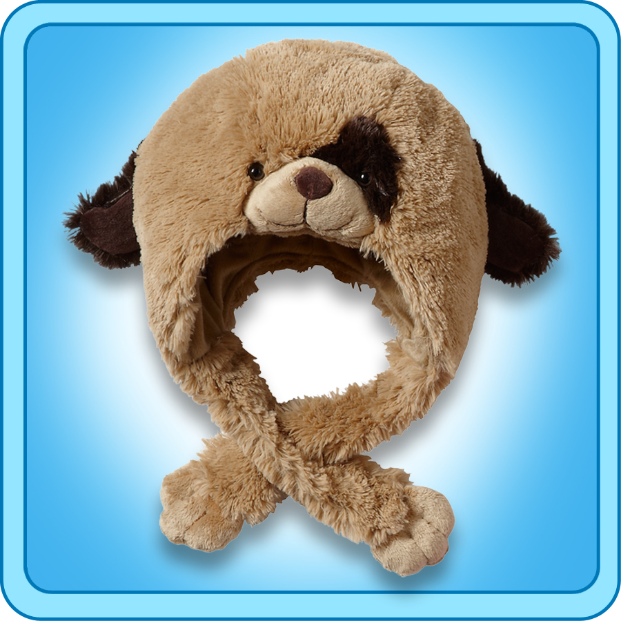 Authentic Pillow Pets Puppy Dog Hat Plush Toy Gift eBay