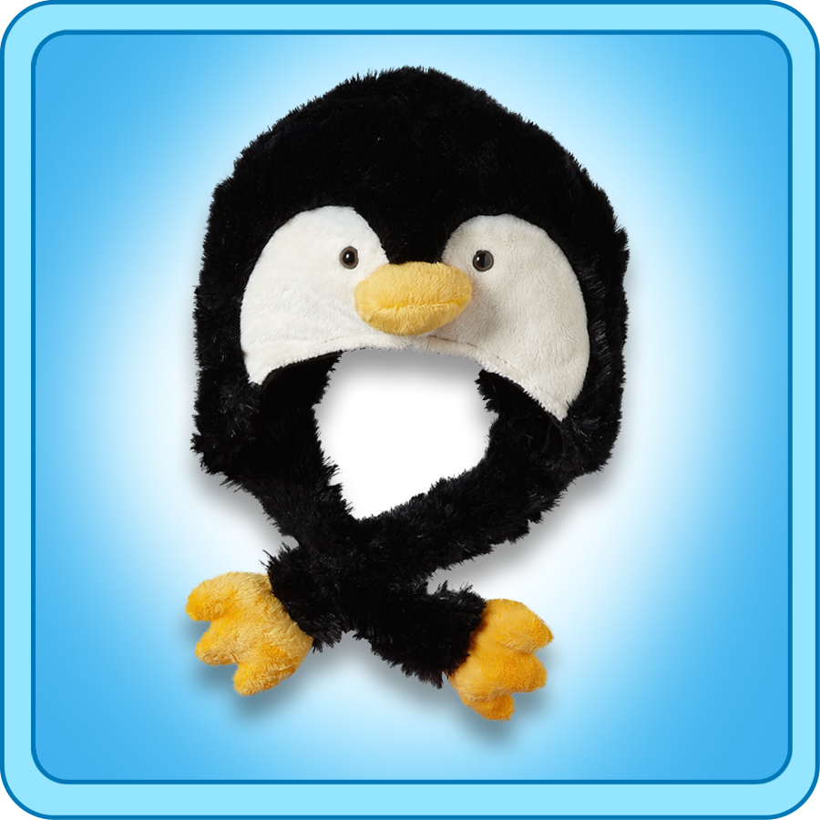 Authentic Pillow Pets Penguin Hat Plush Toy Gift eBay