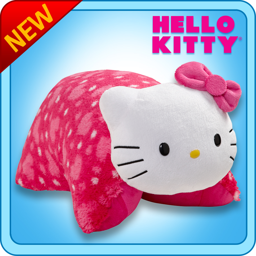 """Hello Kitty Cuddle Pillow: Authentic Pillow Pets Hello Kitty Large 18"""" Plush Toy Gift"""