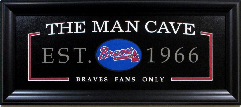 The Man Cave Store Canada : Mlb baseball atlanta braves man cave sign framed