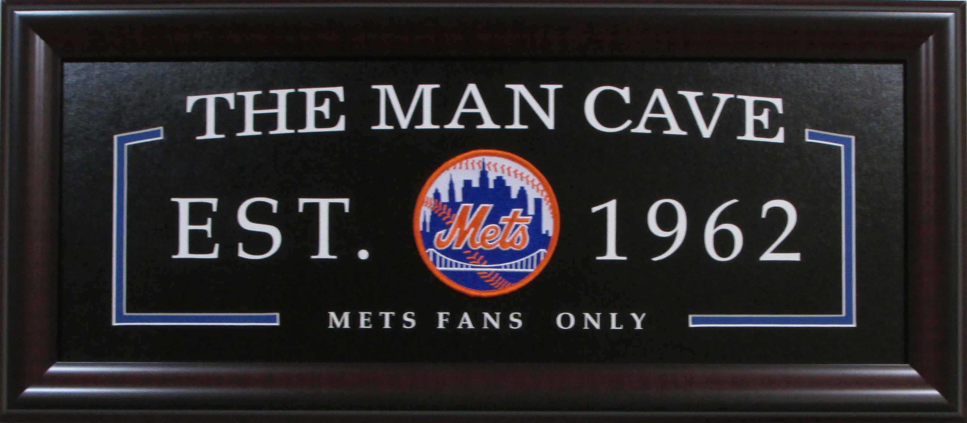 Mlb Man Cave Signs : Mlb baseball new york mets man cave sign framed
